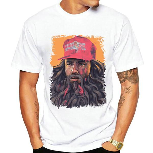 Tom Hanks corre camiseta Forrest Gump vestido de manga curta Melhor filme tees Unisex clothing Qualidade modal Tshirt