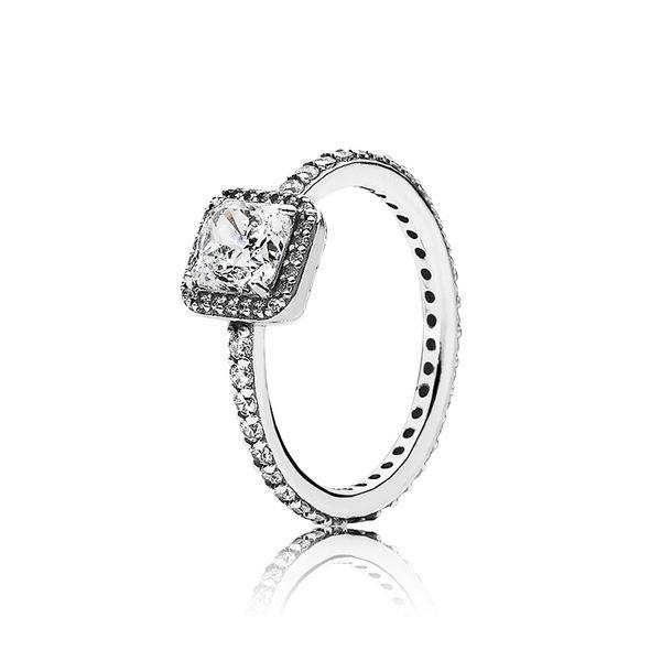 Real 925 Sterling Silver CZ Diamond Wedding RING with LOGO Original box for Pandora rings Women's Christmas Gift