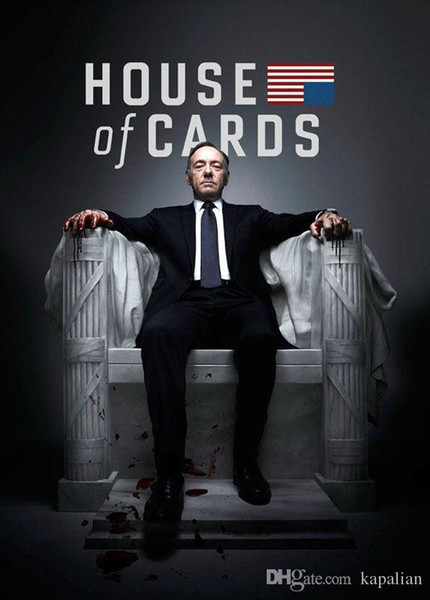 Free Shipping House of cards Poster Kevin Spacey High Quality Art Posters Print Photo paper 16 24 36 47 inches