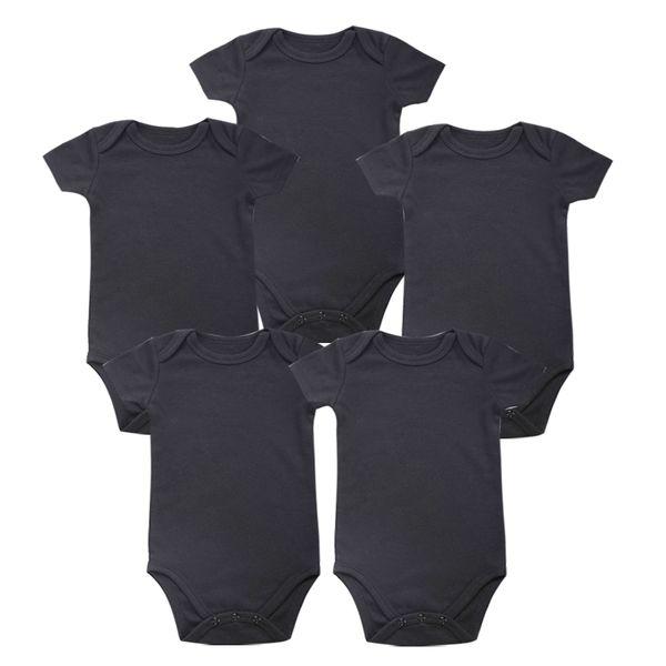 Tender Babies Place New Boy unisex Baby Abbigliamento Baby Newborn Body Black 100% Soft Cotton 0-12 mesi manica corta