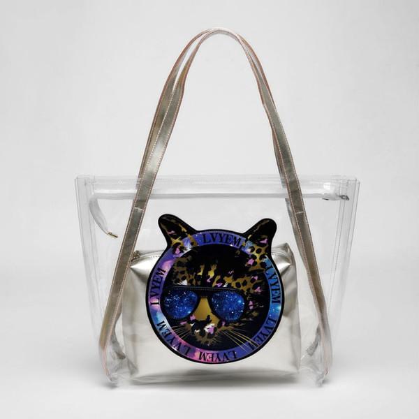 en soldes b7ea6 6b5e4 ADIYATE Women Summer Beach Bag Waterproof Transparent Handbags Large  Capacity Sac De Plage Transparent Tote Bag Clear Handbag264 Beach Bags  Duffle ...