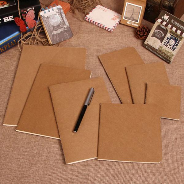 Blank Diary notebook graffiti 30 sheets Sketch Book kraft cover notepad Office School Supplies
