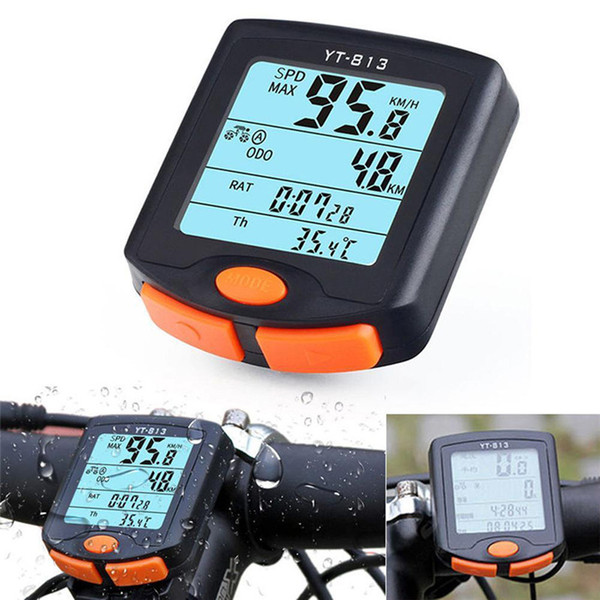New Wireless Bike Cycling Bicycle Cycle Computer Odometer Speedometer Backlight Good Bicycle Cycling Bike Accessories Aug 10