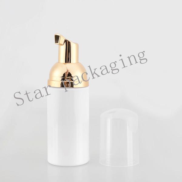 (30 unids) 50 ml Vacío Blanco / claro Dispensador de Espuma de Jabón Líquido Contenedor Bomba de Maquillaje de Espuma de Plástico de Viaje Botella, Botella de Espuma de bricolaje
