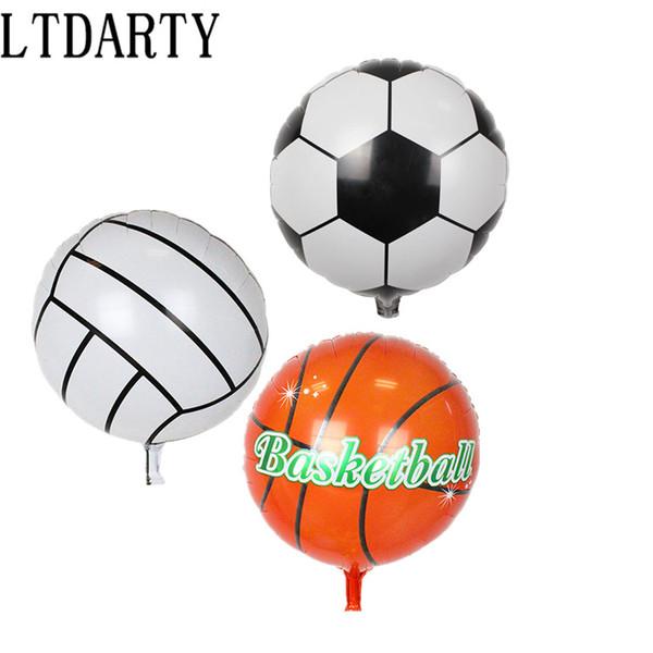 Grosshandel Fussball Basketball Folien Ballone Aufblasbare Helium Ballon Kinder Classic Toys Alles Gute Zum Geburtstag Party Dekoration Luftballons Von