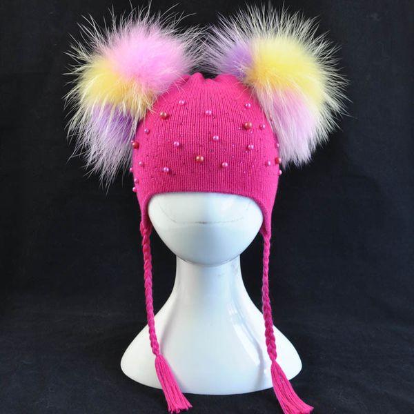 Hot pink multi fur