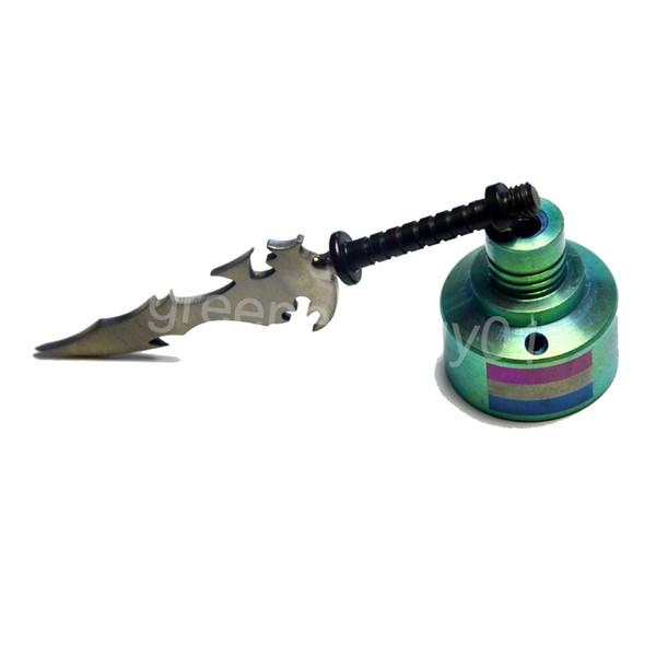 GR2 Titanium Nail Wax Carving Tool 14&18mm TItanium Carb Cap Sword Type of Titanium Dabber