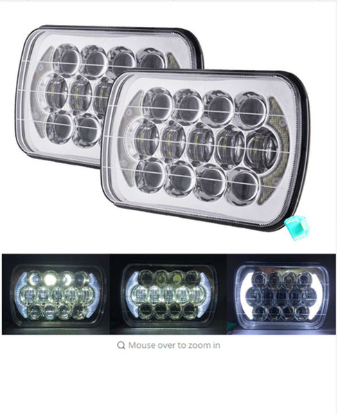 top popular 7x6 LED Headlights 5x7 105W Rectangle LED Head light car headlamp Sealed Replacement High Low Beam for Trucks Offroad Vehicle 2021