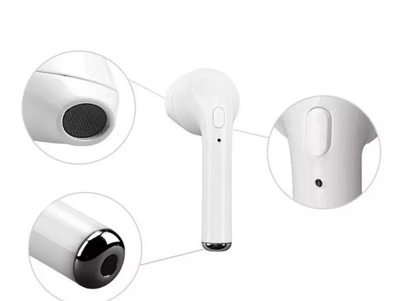 10 pieces per lot I7 tws single earphone with retail box from China factory supply