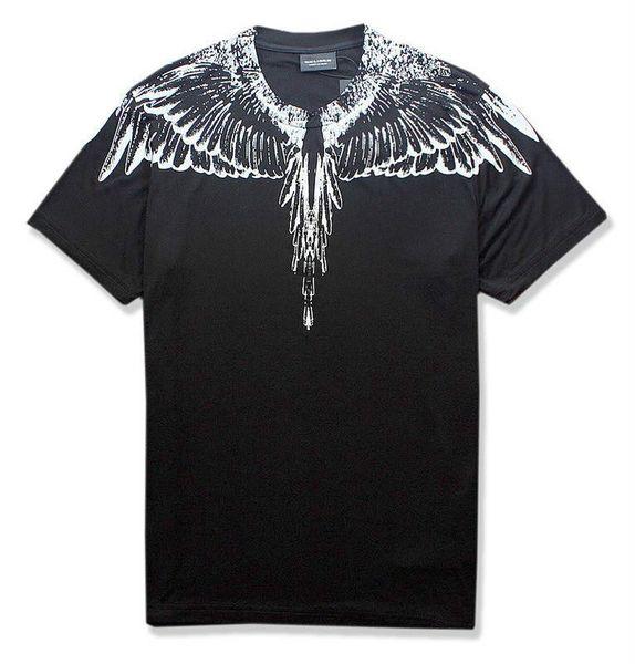 18ss New Marcelo Burlon T-Shirt Men Milan MB Feather Wings T Shirt Men Women Couple Fashion Show RODEO MAGAZINE T Shirts Goros Camisetas