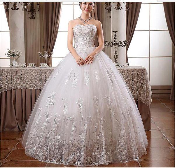 2017 por encargo Real Photo más el tamaño de lentejuelas sin tirantes de encaje vestidos de novia barato blanco vestidos de Novia Vestidos De Novia