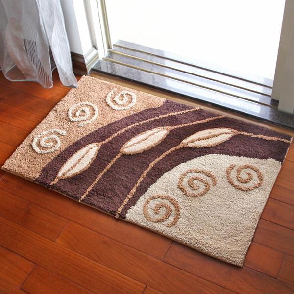 Beflockung Anti-Rutsch-Matte Indoor-Outdoor-Fußmatte Große kleine Innenseite Outside Front Door Matte Rechangle Teppich Boden Teppich 20