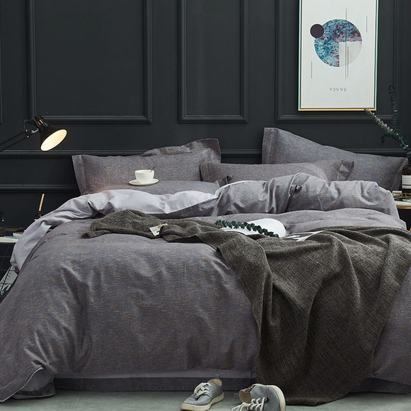 Gray Man Bedding Set Dark Grey Duvet Cover Light Gray Bed Sheet