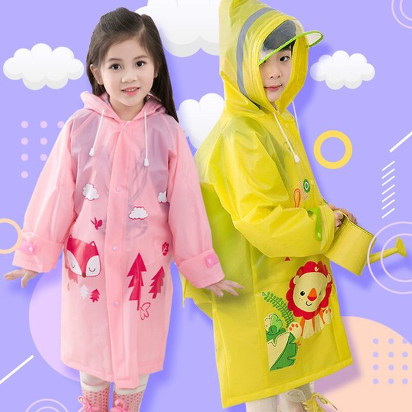 Cute Children Raincoat EVA Rainwear Waterproof Windproof Boy Girl Poncho Baby Child Kindergarten Pupils for Outdoor Tour