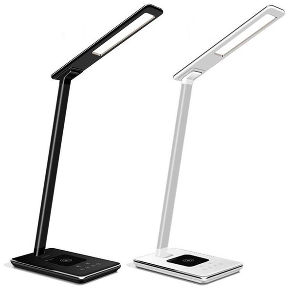 LED Desk Lamp Table lights Folding Eye-friendly 4Light Color Temperature Book Light with Wireless Desktop Charger Reading lights