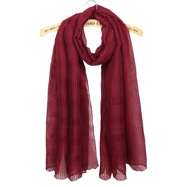 Wholesale 185cm*80cm 12 Colors Cotton Designer Scarf Women Hijab Shawls Pashmina Head Wrap Scarf Table Blanket Beach Towel