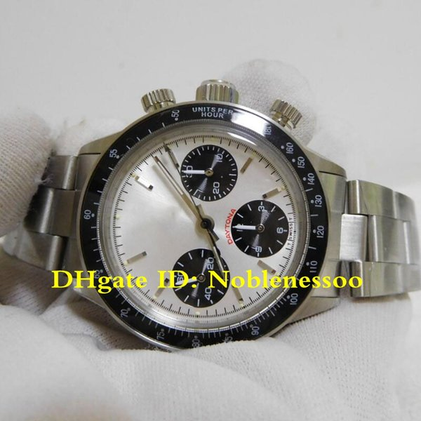 Hot Vintage Luxury Mens Chronograph Watch Men's Vintage 38mm Cosmograph 6263 Chronograph ETA 7750 Movement Mechanical Hand-winding Watches