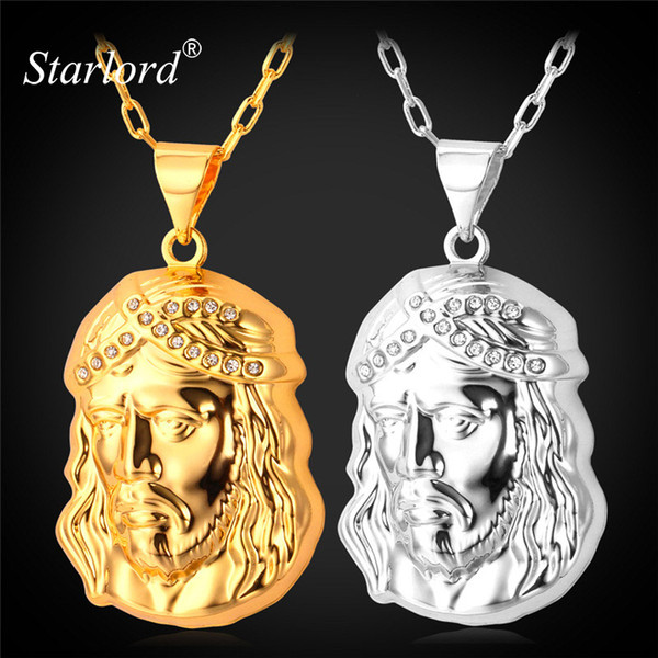 ashion Necklace Starlord Jesus Piece Necklaces Pendant 50CM+5CM Chain Trendy New Men Jewelry Jesus Women Necklace Gold/Silver Color Jewe...