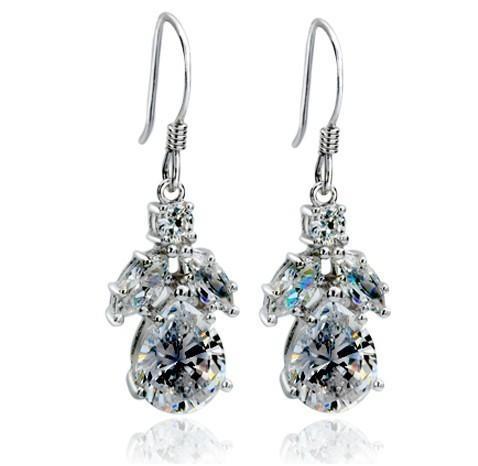 1.3CT / Piece Perfect SONA Simula orecchini di diamanti 925 orecchini in argento sterling genuino favoloso regalo di gioielli di Natale S923