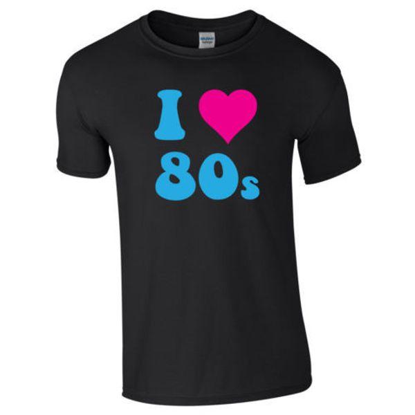 Ich liebe 80er Jahre Herz 80er Jahre Retro Unisex Damen Männer Erwachsene Kinder Pop Kostümfest