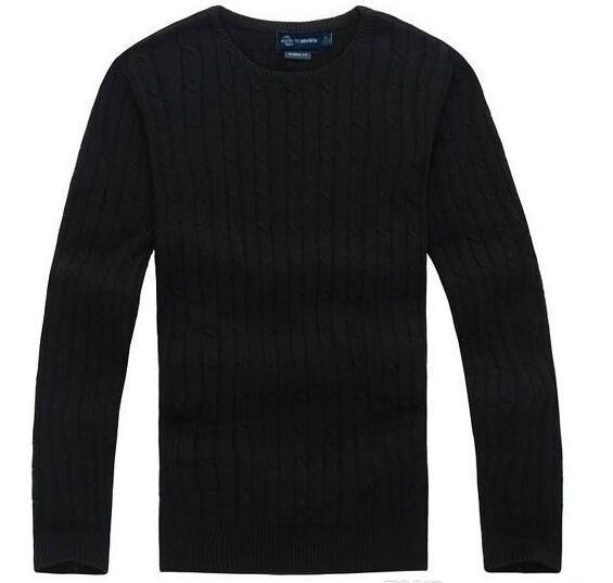 Free Shipping 2018 New High Quality polo Men's Twisted Needle Sweater Knitted Cotton Round neck Sweater Pullover Sweater Male size S-XXL