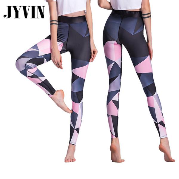 2018 New Sexy Blue Patchwork Sports Leggings Women Gym Running Yoga Legging Fitness Jogging Trousers Sportswear Yoga Pants