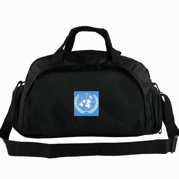Bolso de lona de la ONU Bolso de mano de la bandera mundial de las Naciones Unidas Mochila de uso Banner Equipaje Bolso de viaje Bolso de deporte Bolsa de deporte