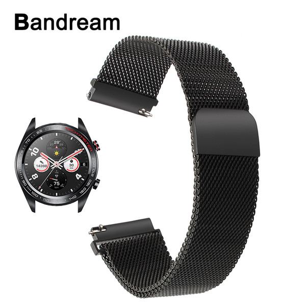 Milanese Loop Stainless Steel Watchband for Huawei Honor Watch Magic Magnet Clasp Strap Quick Release Band Sports Wrist Bracelet