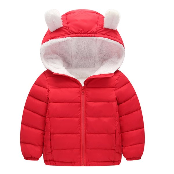 Kids Child Boys Girls Thicken Warm Winter Hooded Coat Cloak Jacket Outerwear AE