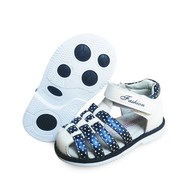 NEW 1pair Kids Leather Sandals Girl Shoes,Super quality Children Orthopedic Shoes