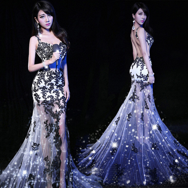 La MaxPa 2017 sexy female singer costume fashion photography clothing bar ds stage costume for women dancers singer dance outfit