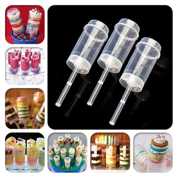 Cake Push Pop Containers Hornear Adicto Al Por Mayor Clear Push-Up Cake Pop Shooter Push Pops Contenedores de plástico c622