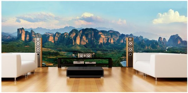3d wallpaper custom photo mural Atmospheric mountain forest scenery tv background wall room painting 3d wall murals wallpaper for walls 3 d
