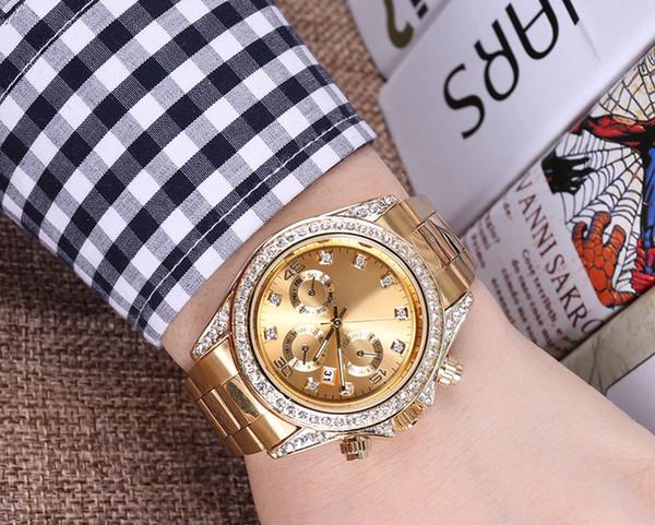 Yeni erkek rhinestone İzle bayanlar elbise bayanlar izle elmas üst marka bilezik izle bayanlar kristal kuvars saat