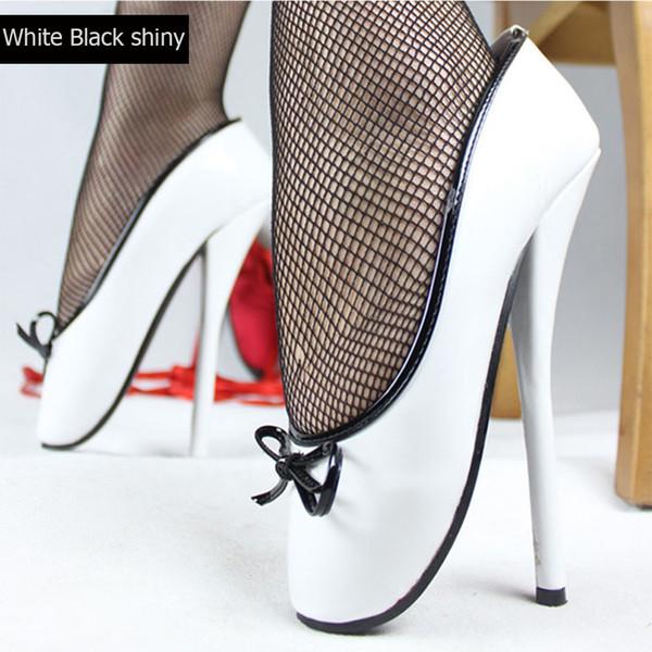 White black shiny