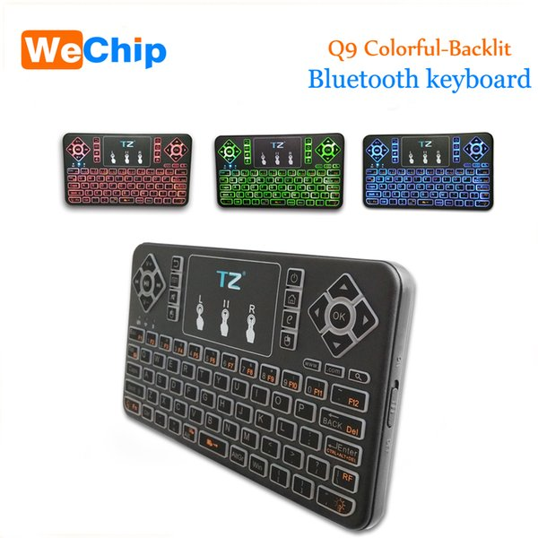 c464daf26af Q9 Bluetooth Wireless Keyboard 3.0 Colorful Backlit Touchpad Keyboard for  Android/Windows/Google Smart