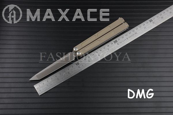 Compre HKpost MAXACE KNIVES Covenant DMG 440C Blade Balisong Butterfly  Knives KVT Rolamento De Esferas De Cerâmica 440c Blade G10 Handle De