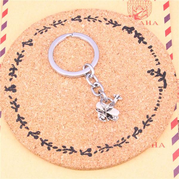 Porte-clés avion biplan pendentifs pendentifs bricolage hommes bijoux voiture porte-clés titulaire d'anneau souvenir pour cadeau