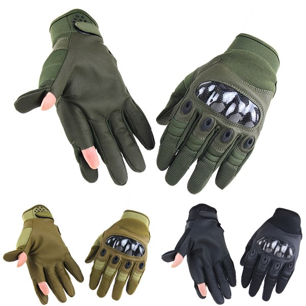 New Touch Screen Tactical Gloves Paintball Army Shooting Bicicletta Work Carbon Hard Knuckle Guanti dita piene