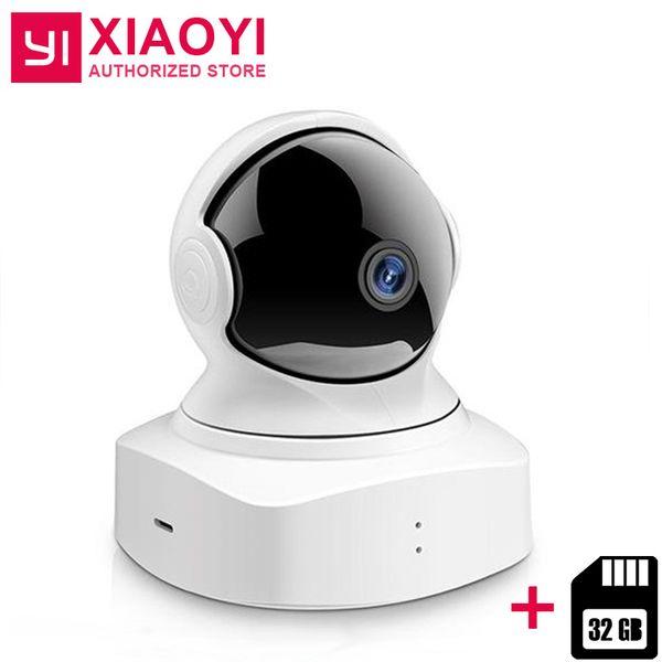 YI Nuvem Câmera Dome +32 cartão SD GB IP Monitor sem fio Wi-Fi Câmera Pan / Tilt / Zoom Home Baby Cam HD 1080p Night Vision