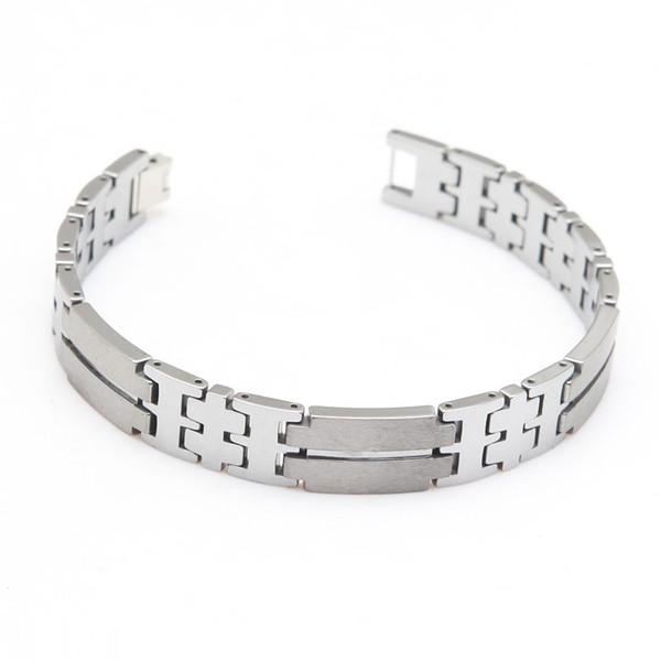 Man's Bracelet Tungsten Bracelet Cool Silver Color Length 21.5cm Width 1.2cm Thickness 3mm Weight 86g