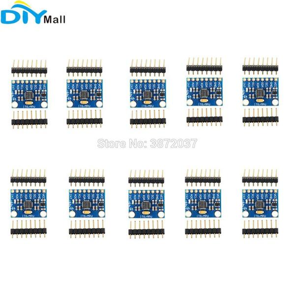 10 teile / los GY-521 MPU-6050 6DOF Beschleunigungssensor 3 Achsen Analog Gyroskop Modul für Arduino