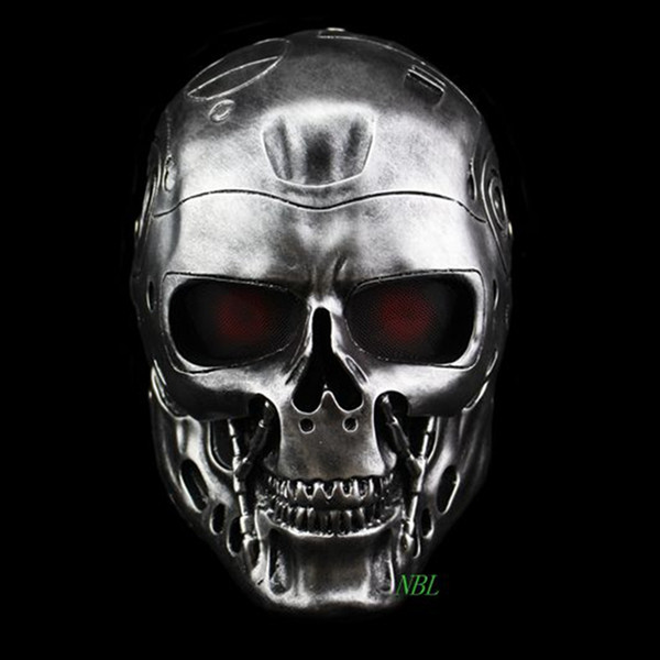 Halloween COS Terminator Casco Maschere Horror CS Paintball Fantasma Creepy Resina Maschera Masquerade Skull Movie Party Puntelli Cosplay