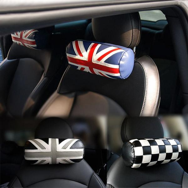 Автокресло подголовник Pad кожа глава шеи отдых подушка Подушка для мини меди один JCW S F55 F56 F60 R60 R55 R56 автомобильные аксессуары