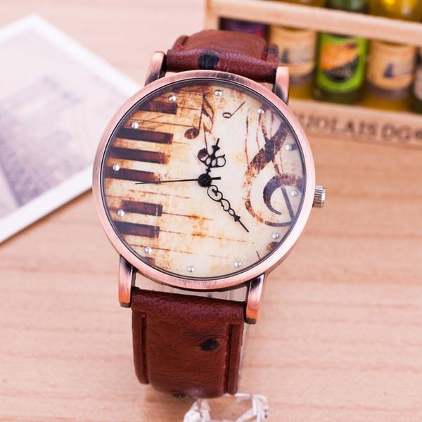 2018 Retro Style simple reloj de cuarzo hombres Casual relojes denim cuero moda Piano mujeres vestido reloj creativo reloj de pulsera de cuarzo