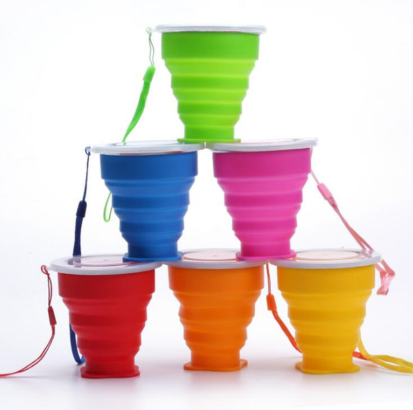 Portable Silicone Telescopic Collapsible Retractable Folding Cup Outdoor Camping Travel Tableware foldable cup camping Water cup SN709