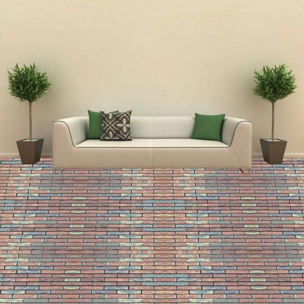 Kostenloser Versand Ziegel Wand 3D Boden Malerei Schlafzimmer Badezimmer  Restaurant Hotel Selbstklebende Benutzerdefinierte Tapete Mural
