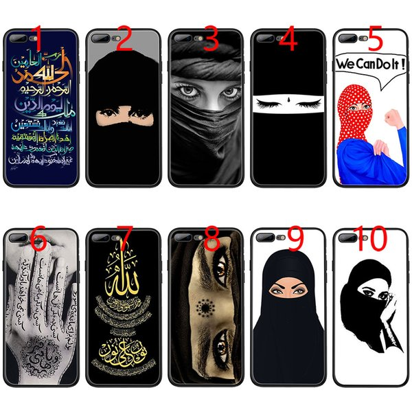 Muslim Girl al Islam Soft Black TPU Phone Case for iPhone XS Max XR 6 6s 7 8 Plus 5 5s SE Cover