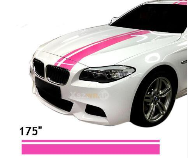 "(15*450cm/Roll) Car Styling 175"" Vinyl Racing Stripe Decal Sticker For RCZ 308 VW Beetle 180TSI Scirocco Golf Tiguan DS5"