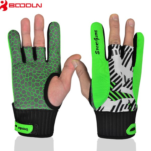 Brand Bowling Gloves Printing High-End Finger Thumb Silicone Non-slip Bowling Gloves for Men and Women Luvas de goleiro